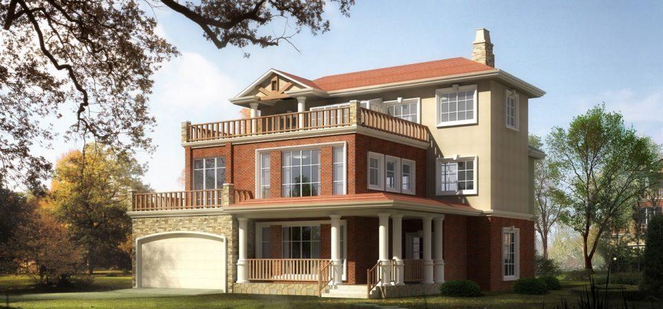 UK - Detached 5 Bed House - 3D Exterior